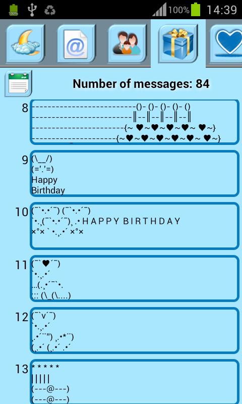 Art Text - Symbol Sms - screenshot