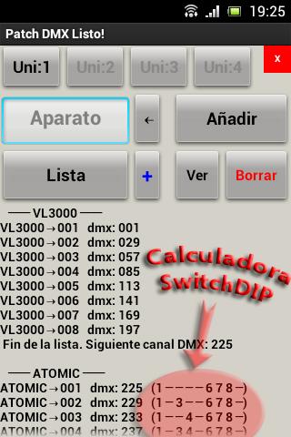 Patch DMX List sp