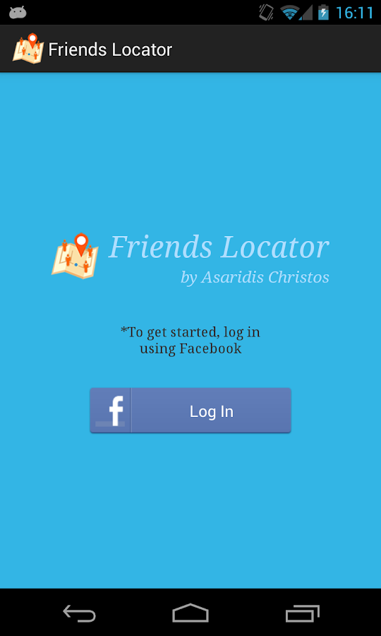 Facebook Friends Locator - screenshot