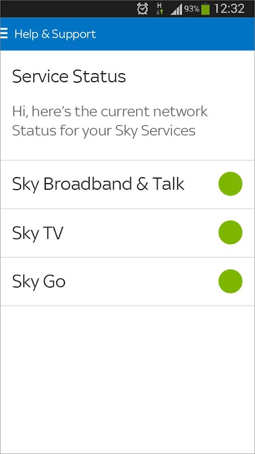 Sky Service- screenshot