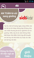 Screenshot of Cot to Bed Safety - Vietnamese