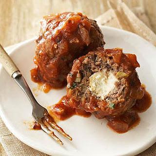 Greek Stuffed Meatballs.