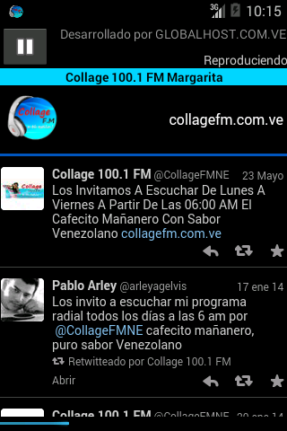 COLLAGE 100.1 FM