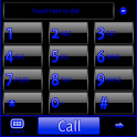 GO Contacts Black & Blue Theme icon