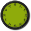 Green Chinese Clock Widget