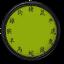 Green Chinese Clock Widget