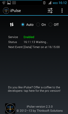 iPulse - Connection manager - screenshot
