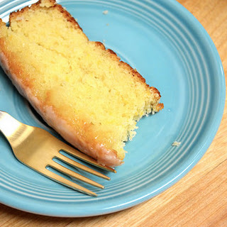 Meyer Lemon Cake With Fresh Ginger Glaze