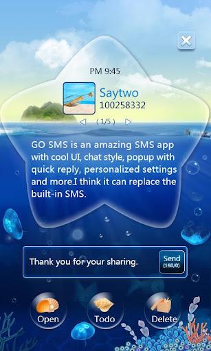 GO SMS Pro OceanStar Popup ThX