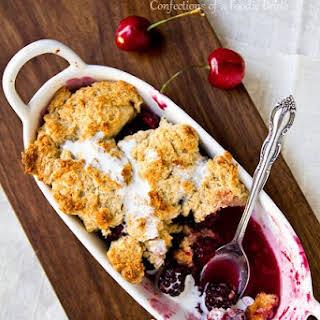 Blackberry Cherry Cobbler.