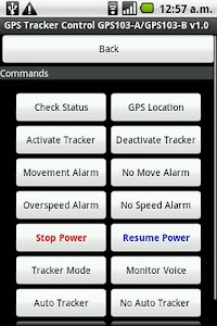 GPSTracker Control GPS103-A/B screenshot 2