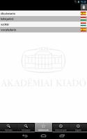 Screenshot of Hungarian-Spanish Dictionary