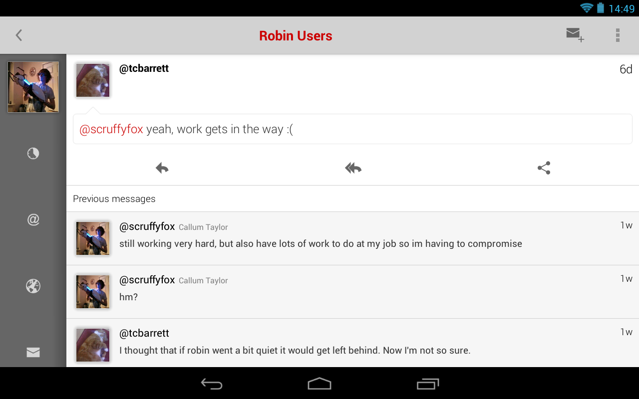 Robin for App.net - screenshot