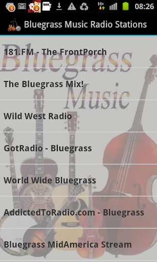 Bluegrass Music Radio Stations