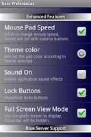 Screenshot of Blue Mouse Touch Pad