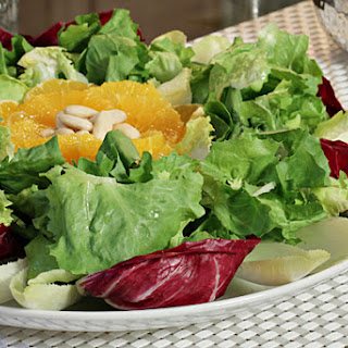 Escarole and Endive Salad with Valencia Oranges and Fig Molasses Vinaigrette