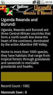 BirdLister Uganda- screenshot thumbnail