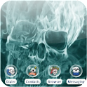 Fire skull [SQTheme] for ADW logo