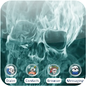 Fire skull [SQTheme] for ADW