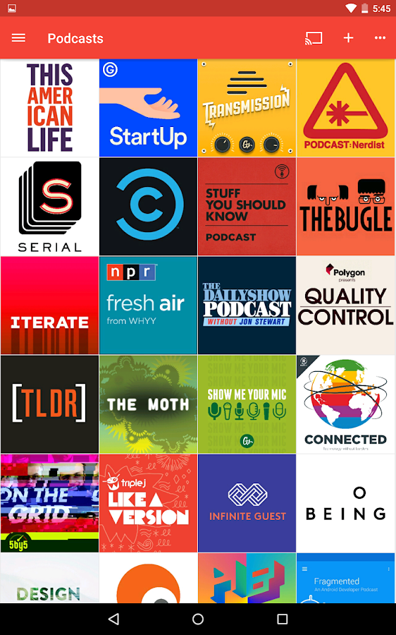 Pocket Casts- screenshot