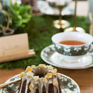 Mini Gingerbread Bundt Cakes with Vanilla Glaze.