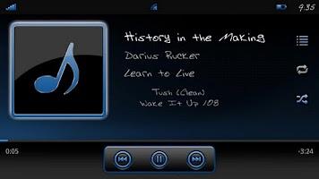 Screenshot of Serenity UberMusic Skin Blue