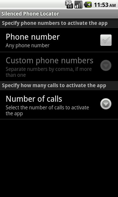 Silenced Phone Locator- screenshot