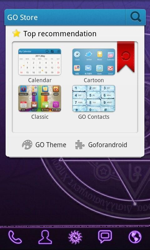 Magic Circle GO Launcher Theme - screenshot