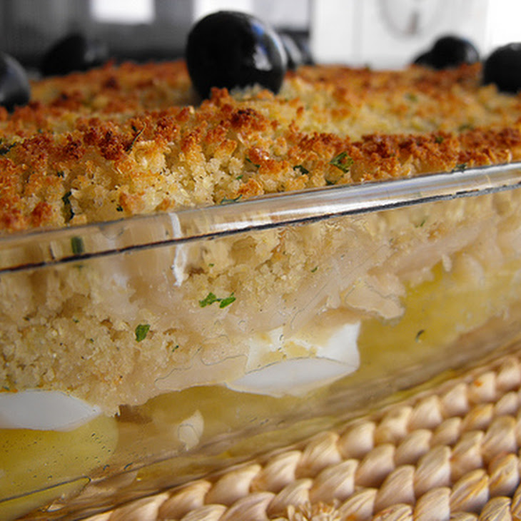 Codfish with Broa Bread Crumble Recipe