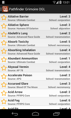 Pathfinder Grimoire OGL - screenshot