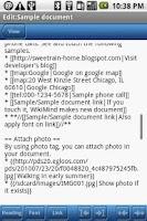 Screenshot of WikiMind note lite