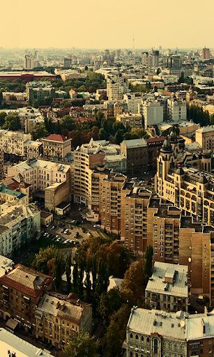 Kyiv at rain Live Wallpaper