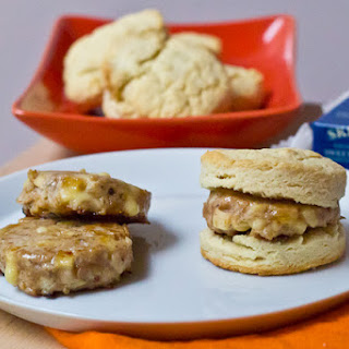 Apple Cheddar Breakfast Sausages
