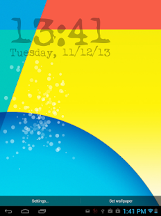 Nexus 5 KitKat - Digital Clock - screenshot thumbnail