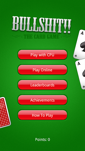 Bullsh t Card Game