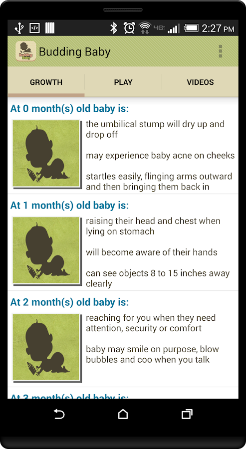 Budding Baby: Milestones- screenshot