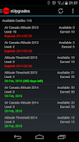 Screenshot of Canada Airline Account Manager