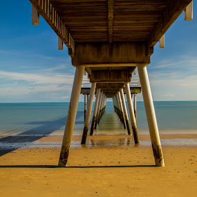 Scarness Jetty Hervey Bay by Gurung Purna - Buildings & Architecture Bridges & Suspended Structures ( queensland, hervey bay, sea, scarness jetty, jetty )