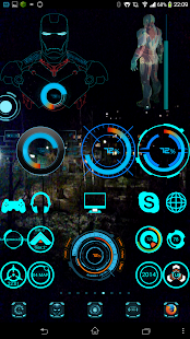 Iron Man Jarvis Central HUD - screenshot thumbnail