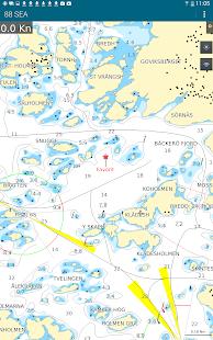 88 SEA - Sjökortsnavigator - screenshot thumbnail