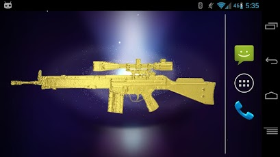Sniper Rifle Gold Gun Widget Android Arcade & Action