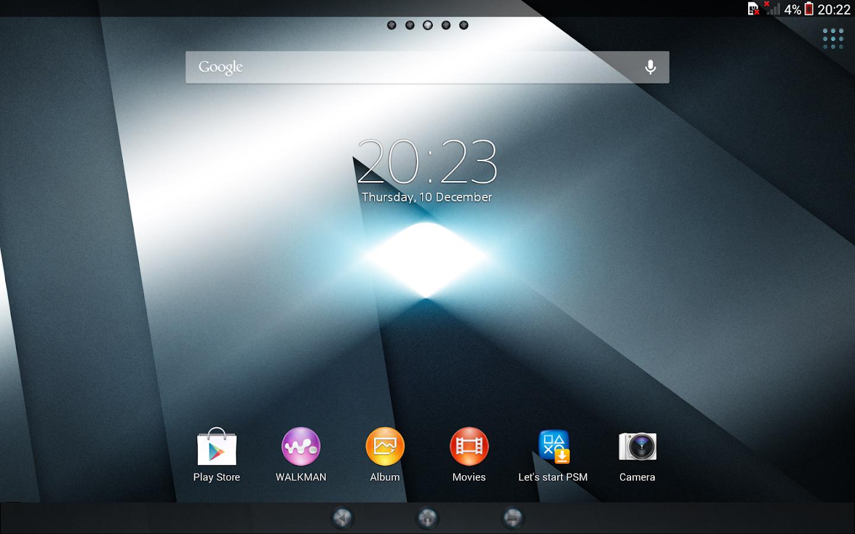 Google play xperia themes - Xperia Reality Theme Screenshot