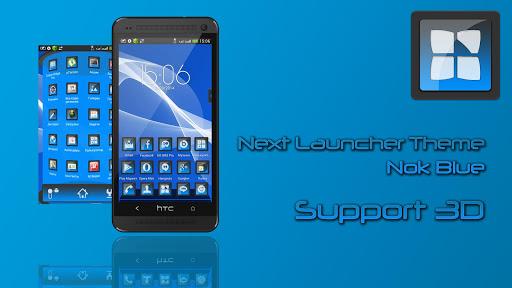 Next Launcher Theme Nok Blue