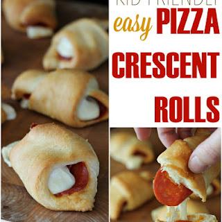 Easy Pizza Crescent Rolls.