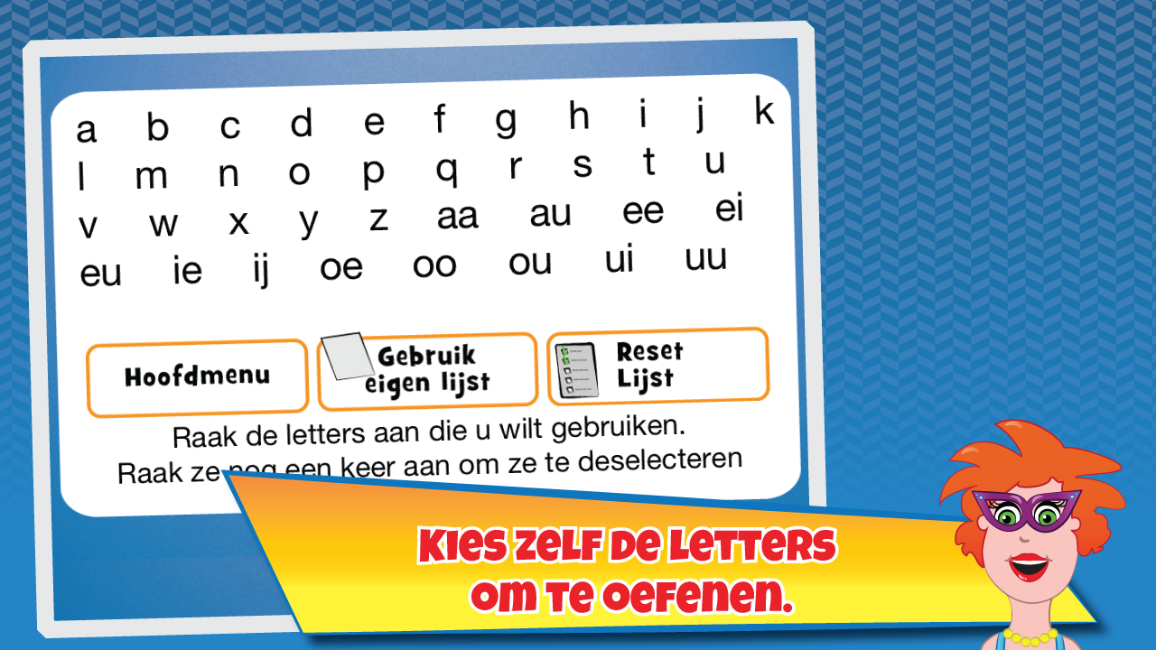 Juf Jannie - letters flitsen- screenshot