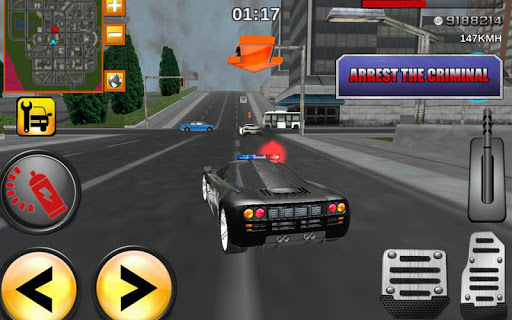 瘋狂的司機警察職務3D