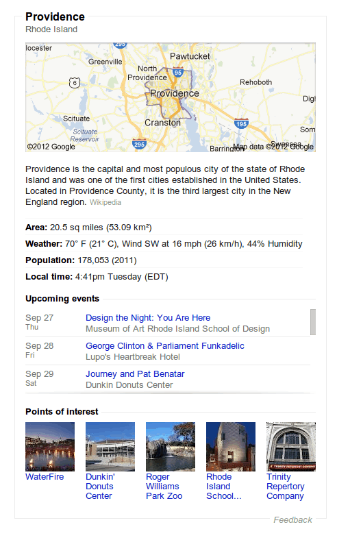 Data Highlighter data in the Google knowledge graph.