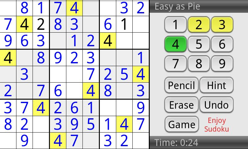 Enjoy Sudoku- screenshot