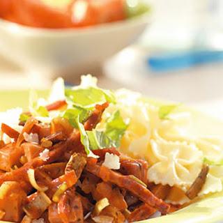 Strikjespasta Met Ham En Chorizo