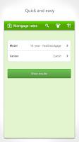 Screenshot of Mortgage interest Switzerland